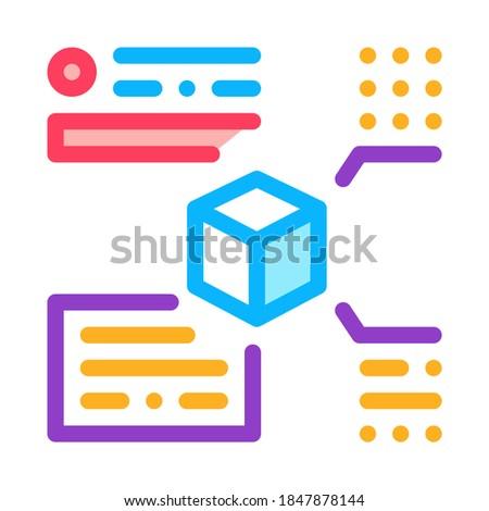 Medición paquete icono vector ilustración Foto stock © pikepicture