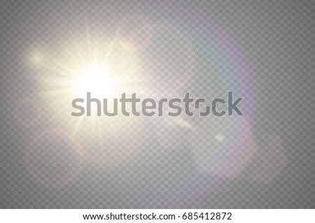 Abstract golden front sun lens flare translucent special light effect design. Vector blur glow glare Stock photo © Iaroslava
