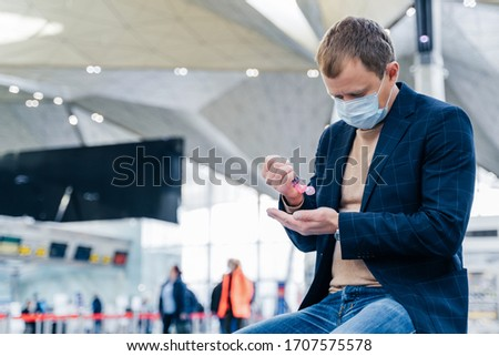 Foto uomo medici faccia maschera spray Foto d'archivio © vkstudio