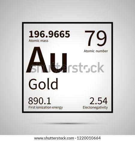 Ouro químico elemento primeiro energia atômico Foto stock © evgeny89