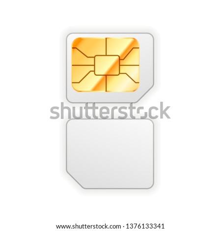 Micro carta telefono lucido chip Foto d'archivio © evgeny89