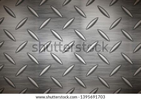 Industrial metal plate with diamond non slip surface, wide background Stock photo © evgeny89