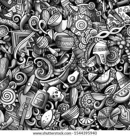 Karikatür vektör karalamalar latin amerika örnek Stok fotoğraf © balabolka