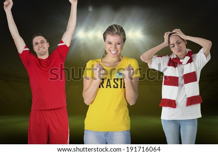 smiling woman wearing football shirt with football under her arm stock photo © Rob_Stark