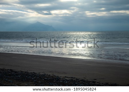Remote Coastal Beach on  Cloudy Day Stock photo © wildnerdpix