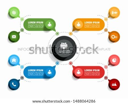 Modern vektör etiket bilgi şirket basit Stok fotoğraf © vitek38
