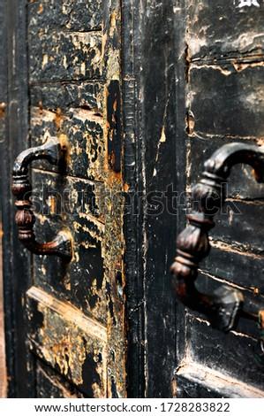 красивой старые антикварная двери блокировка Сток-фото © cboswell