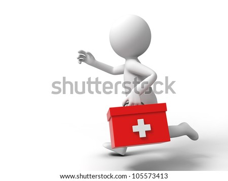 Stethoscope and first aid on white background. Isolated 3D image Stock photo © ISerg