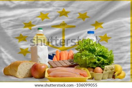 complete waved flag of american state of rhode island for backgr Stock photo © vepar5