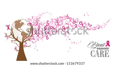 global breast cancer awareness concept tree illustration eps10 f stock photo © cienpies