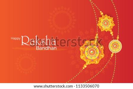 Beautiful Raksha bandhan festival rakhi background vector illust Stock photo © bharat