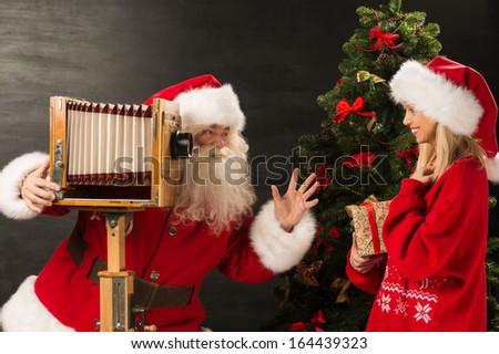 写真 · サンタクロース · 妻 · 意外 · 開設 · キリスト - ストックフォト © hasloo