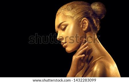 Közelkép nő portré ékszerek szem smink profi ábrázat Stock fotó © Victoria_Andreas