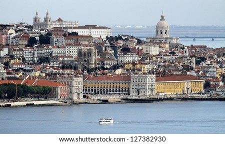 Panorama of Alfama and Graca, cityscape of Lisbon, Portugal, Eur Stock photo © Taiga