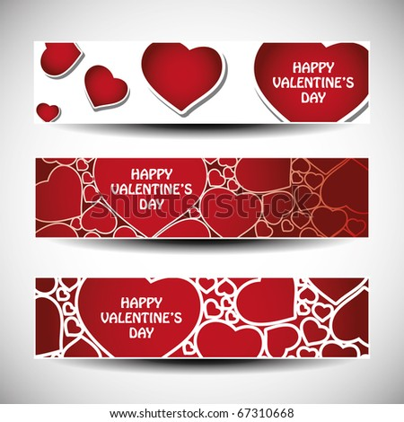 dia · dos · namorados · colorido · coração · banners · conjunto · projeto - foto stock © bharat