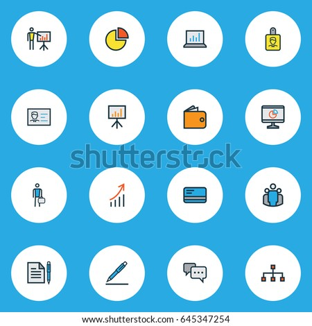 businessman drawing pie charts and other infographics in note pa stock photo © stevanovicigor