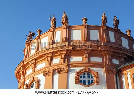 Permanente dak paleis detail hemel Blauw Stockfoto © meinzahn