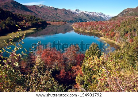 lac · Argentine · nature · paysage · Voyage · automne - photo stock © xura