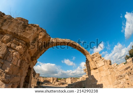 Saranta Kolones, a ruined medieval fortress. Paphos district, Cyprus Stock photo © Kirill_M