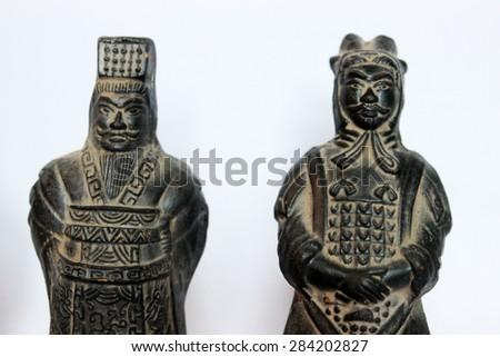 chinese · steen · standbeeld · man · gezicht · ontwerp - stockfoto © pzaxe