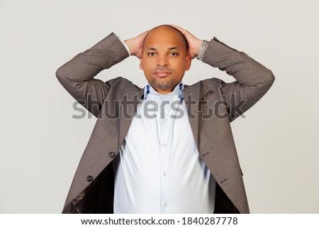 ビジネスマン · 顔 · 手 · 悲しい · スーツ · 頭 - ストックフォト © deandrobot