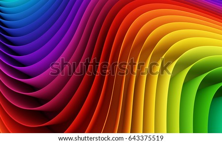 ストックフォト: 抽象的な · 虹 · 幾何学的な · 波 · スペース · 実例
