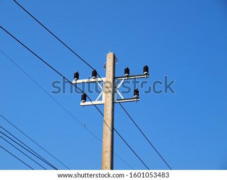электроэнергии проводов зеленый стекла глубокий Blue Sky Сток-фото © rekemp