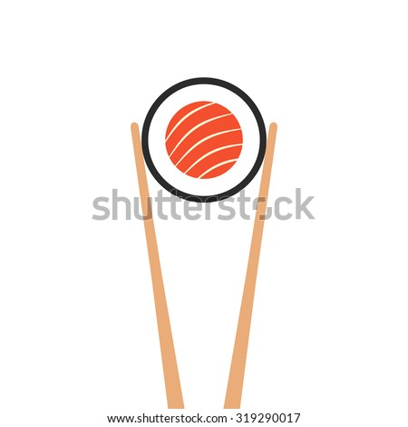Vector Flat Style Food Sushi Sashimi and Rolls Objects Concept Stock photo © Anna_leni