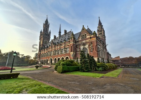 The Peace Palace - International Court of Justice in The Hague,  Stock photo © vladacanon