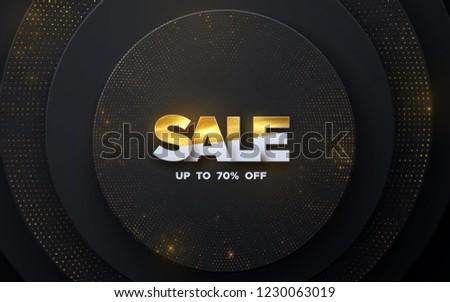 winter offer golden vector icon design stock photo © rizwanali3d