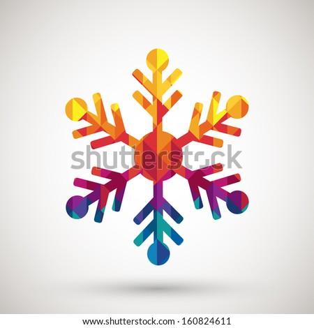 christmas walplaper with frozen diamond snowflake vector illustration stock photo © carodi