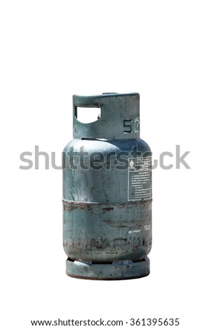 gas tank cylinder balloon net weight 15KG isolated on a white ba Stock photo © FrameAngel