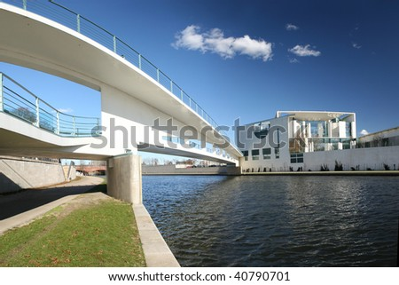 River Spree and office building of the German Parliament - Berli Stock photo © meinzahn