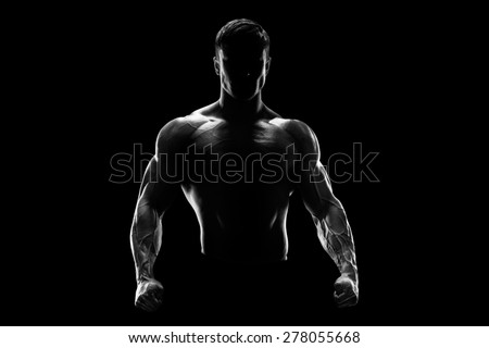 Souriant torse nu jeune homme permanent gris Photo stock © deandrobot