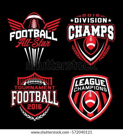 american football championship team training camp badges logos labels insignias in retro color s stock photo © jeksongraphics