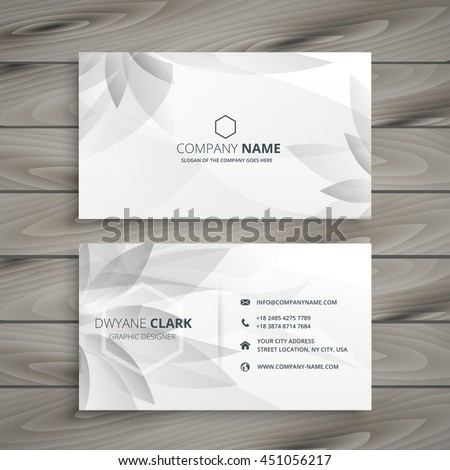 beautiful gray white flower business card template vector design Stock photo © SArts