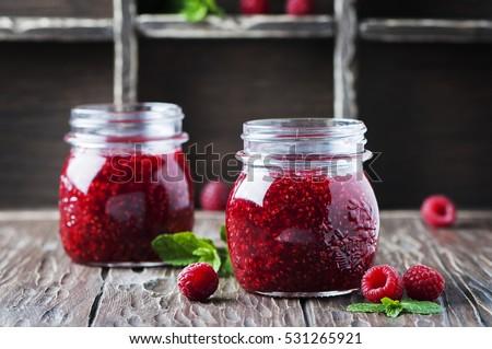 jar · domowej · roboty · maliny · jam · owoców - zdjęcia stock © yatsenko