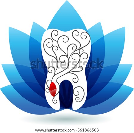 Beautiful abstract tooth illustration, seed and plant from roots Stock photo © Tefi
