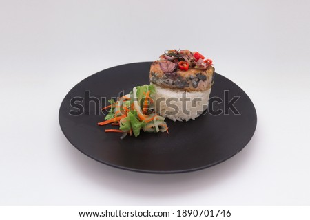 Sashimi Tuna and Wasabi Salad With Avocado and Red Pickled Ginge Stock photo © monkey_business