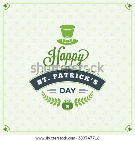 boldog · szent · nap · kártya · tipográfiai · díszek - stock fotó © fresh_5265954