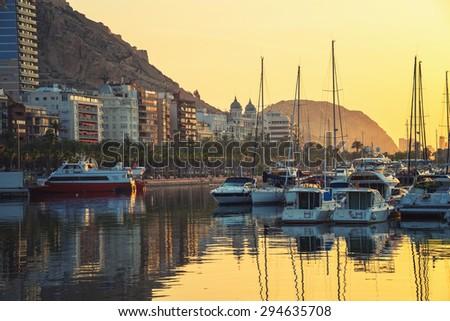 Sunrise over the Mediterranean Sea. Costa Blanca. Alicante. Spain Stock photo © amok