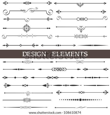 vintage calligraphic divider   retro decorative flourish border frame element stock photo © loud-mango
