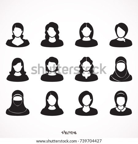 belo · moda · jovem · Árabe · mulher · ícones - foto stock © nikodzhi