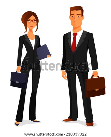 Illustration that a young businessman consulting a female pharma Stock photo © yamayo74