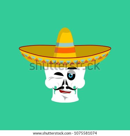 Schedel sombrero Mexicaanse skelet traditioneel Stockfoto © popaukropa