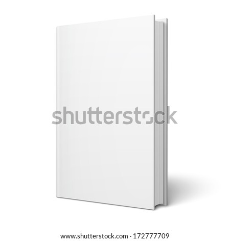 Blank Book Cover Isolated Vector. Illustration Isolated On Gray Background. Empty White Mock Up Temp Stock photo © pikepicture