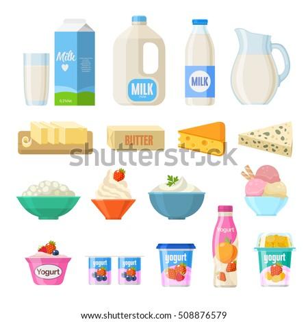 молоко · продукции · стиль · молочная · изолированный · белый - Сток-фото © marysan