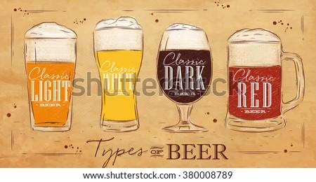 vector illustration with fresh dark beer in a beer mug on transparent background stock photo © articular