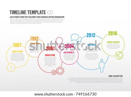 Wektora poziomy timeline szablon arrow Zdjęcia stock © orson