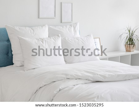 Pillow and bedclothes Stock photo © IS2